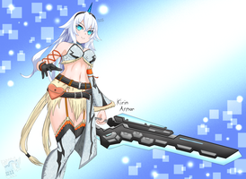 Black Heart in Kirin Armor by Expired-Nep-Bull