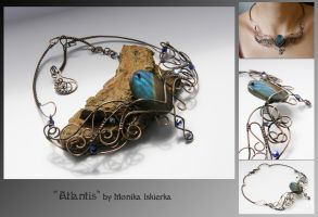 Atlantis- wire wrapped necklace by mea00