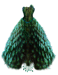 Emerald Peacock Dress by BrookeGillette