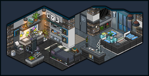 Modern apartment bedroom for male design by Cutiezor