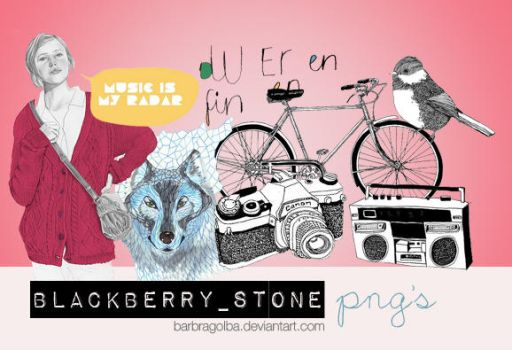 Blackberry Stone PNG's by BarbraGolba