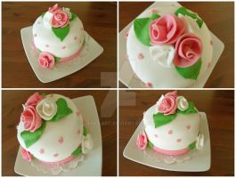 rose cake by JankaArt