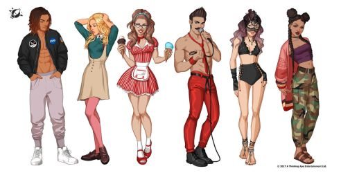 PIMD characters 3 by Emilyena