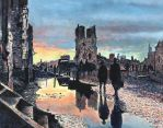 Evening by the Cloth Hall, Ypres by TJKruse