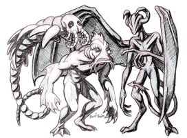 Lovecraftian Horrors by strangefour