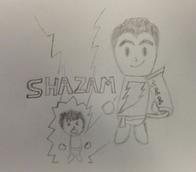 15) Billy Batson Becomes Captain Marvel by CyberPFalcon