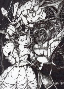 Disney's Beauty and the Beast by Vampiressartist