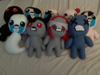 The Binding Of Isaac Plushies by Blahara