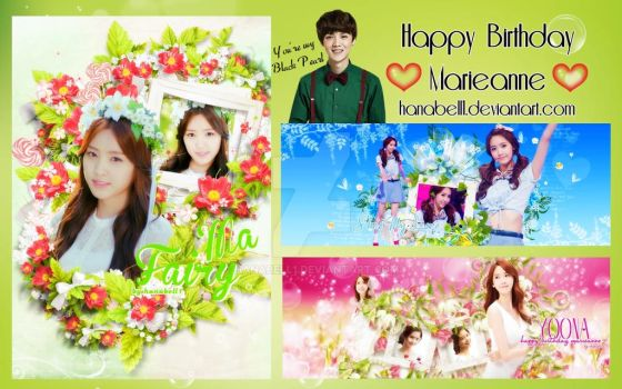 [Pack] Happy Birthday Marieanne by HanaBell1