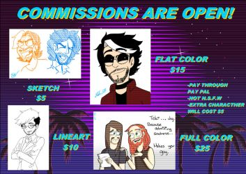 Full Commissions OPEN! by Rocker2point0