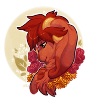 showers you in flowers by Verlidaine