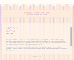 Cute Heart Scallop Journal Skin UPDATED by Sleepy-Stardust
