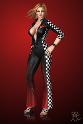 DOA5 Ultimate - Tina Armstrong (racer) by Sticklove