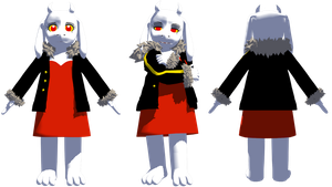 MMD AlterFell Toriel (DL) by KittyNekkyo