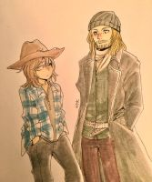 Jesus and Carl by chibikko1000