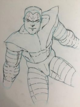 Colossus Holiday Art Swap 2015 WIP by JasonScholte