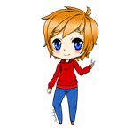 Chibi comission for superredheadedgamer by AmadoSan