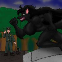 Big Black Dog - Not A Werewolf by CycKath
