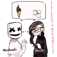 Marshmello and Skrillex:3 by coconutYMZ