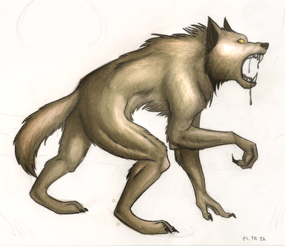 Copic Werewolf by Ayior