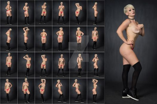 Stock: Emmy Topless Socks Standing - 25 Images by stockphotosource