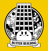 Kirby - Butter Building T-Shirt Design by jennyjams