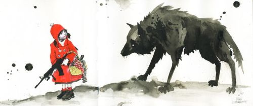 RED RIDING HOOD by lora-zombie