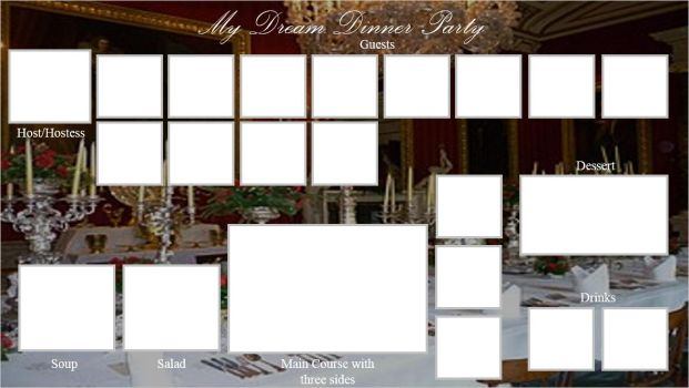 My Dream Dinner Party meme template by donboy65
