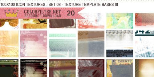 Icon Textures Set 08 - Texture Template Bases III by colorfilter