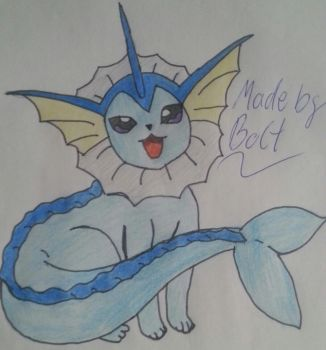 Vaporeon -Aquana- draw by BoltMagie
