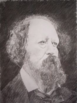 Alfred, Lord Tennyson by jezzapandd