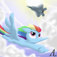 MLP x AC: Rainbow Dash and Mobius 1 by AcesRulez13