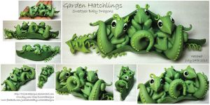 Garden Hatchlings - Sweetpea Dragons by lizzarddesigns