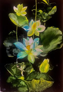 Water Lily fairy  by Gkantinas