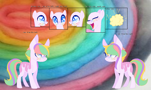 Candy Pop Reference sheet by CheshireGrinFU