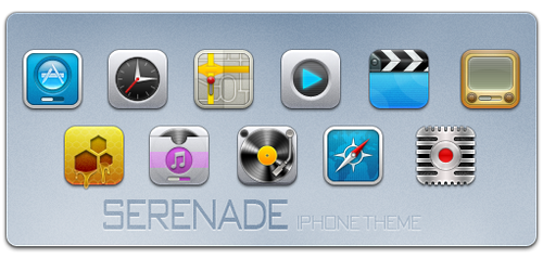 Serenade iPhone Theme by m0rphzilla