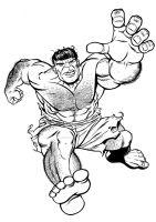 Another Hulk sketch by angryrooster