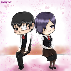 [C] for Mslayer - Kaneki and Touka by Escoatic