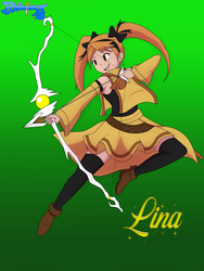 Lina, The Energetic Archer by RatsuTerra48