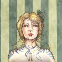 Art deco girl by annick