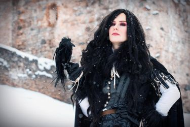 Yennefer and Her Aid by wormwood-doll