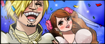 One Piece Chapter 861 COLORS BIG MOM WEEDING Sanji by Amanomoon