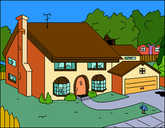 The Simpsons House by Mickka