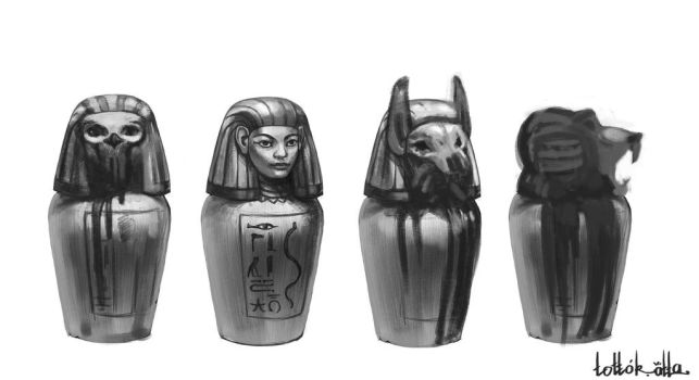 Canopic jar by Tottor