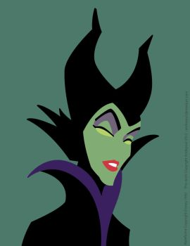 Minimalist Study #1: Maleficent by andepoul