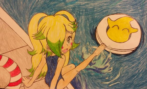 Staria and Luma at the Pool. by dcb2art