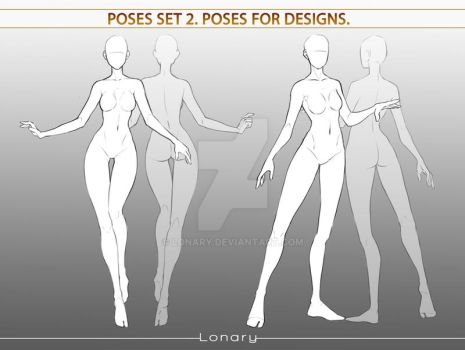 Poses set 2. Poses for designs.