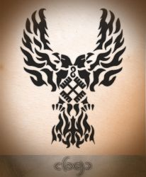 Final Tribal Eagle's Tatto by warrior2001