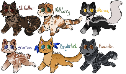 Breedable Cats -CLOSED- by FrostEquinoxx