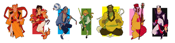 Journey To The West AU - Voltron Cast by peichunmeifang